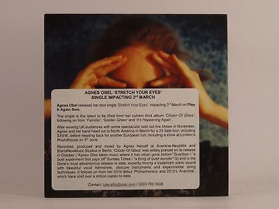AGNES OBEL STRETCH YOUR EYES (F9) 2 Track Promotional CD Single Card Sleeve PIAS • 3.29£