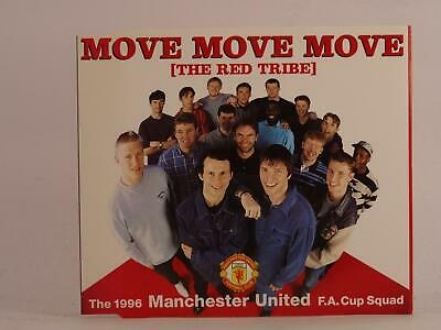 MANCHESTER UNITED F.A. CUP MOVE MOVE MOVE (THE RED TRIBE) (K7) 3 Track CD Single • 2.46£