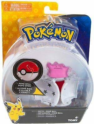 Pokemon Ditto Throw N Pop Poke Ball Ditto Action Figure Toy New Gift AGE UK • 8.50£