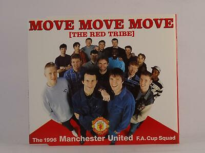 THE RED TRIBE (MANCHESTER UNITED F.A. CUP SQUAD) MOVE MOVE MOVE (J45) 3 Track CD • 2.46£