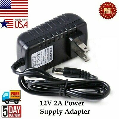 $9.99 • Buy 12V 2A AC / DC Power Supply Adapter & DC Connector For 100V-240V 50/60Hz Adapter