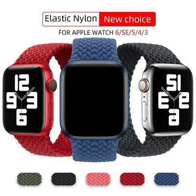 $ CDN4.99 • Buy Braided Solo Loop Band For Apple Watch 2 3 4 5 SE 6 Nylon Strap IWatch Bracelet