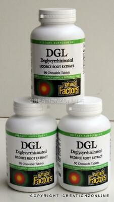 AU62.50 • Buy 270 Chewable Tabs Natural Factors DGL Deglycyrrhizinated Licorice Root Extract R