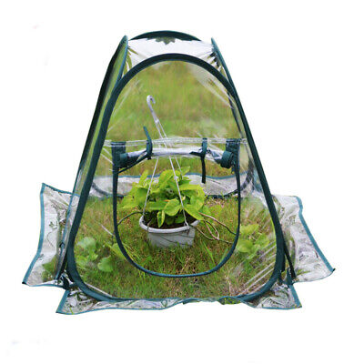 Mini Pop Up Garden Plants Flowers Cover Tent PVC Greenhouse Cloche Propagator • 15.99£