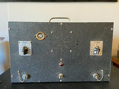 $ CDN382.76 • Buy Antique 1950s Tube Amplifier For Guitar Amp Rebuild W/ Case Amazing Steampunk