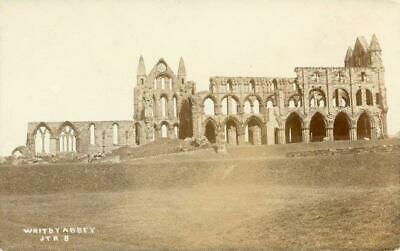 Real Photo Postcard Of Whitby Abbey (near Staithes) North Yorkshire By Ross#jtr8 • 10£