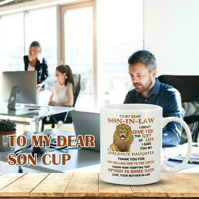 To My Dear Son-In-Law Mug Letter Pattern Printed Coffee Cups Microwave Safe L0Z1 • 5.64£