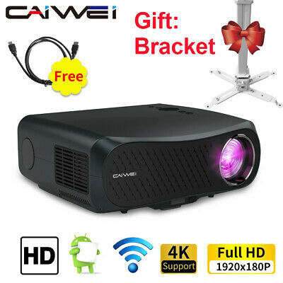 AU625.13 • Buy 8500lms Native 1080P Projector Android 6.0 5G WIFI HD BT 4K Daytime With Screen