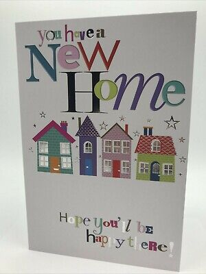 New Home Card By Simon Elvin Cards Hope You'll Be Happy There! • 1.99£