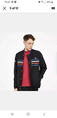 New Lacoste Sport Coloured Bands Tracksuit Top/jacket Only Xsmall 2 Supreme TN  • 44.99£