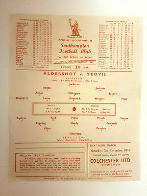 Aldershot V Yeovil FA Cup Replay 1st Round 1955-56  • 27£