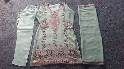 Designer Asian Indian Wedding Party  Occasion Woman's Trouser  Lined Suit • 25£