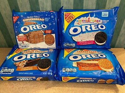Family Size Oreo Chocolate Sandwich Cookies - USA Flavours Imported RARE • 12£