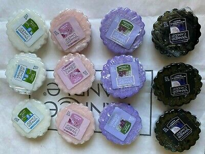 Yankee Candle 12x Wax Tarts SET Lilac Blossoms Midsummers Night Clean Cotton • 16.95£