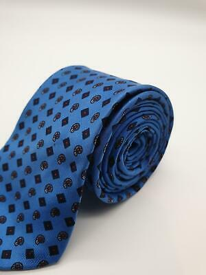 Gary Numan Style Royal Blue and Red Skinny Narrow Tie Two Tone Retro Punk