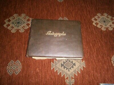 £49.99 • Buy Vintage Autograph Book , Circa 1930 And Beyond, Art Work,s See Info !! Reduced