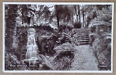 Old Postcard Nine Springs Yeovil Somerset Valentine's Unposted   Photo Brown  • 1.49£