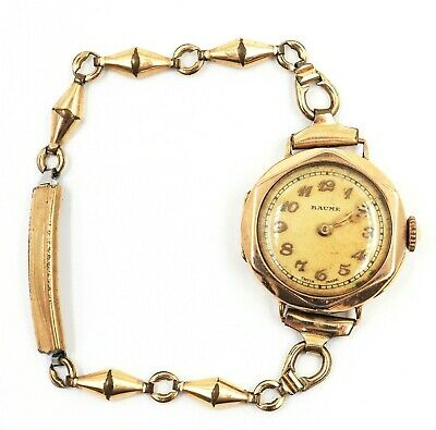 £423.10 • Buy Baume Women's 9ct Yellow Gold Watch Antique Vintage Circa 1920's Wind Up