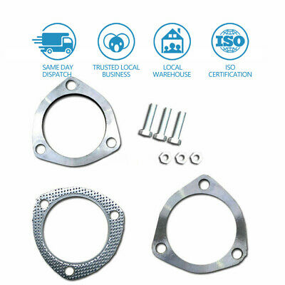 AU26.99 • Buy Universal Exhaust Flange Plate Set 304 Stainless Steel 2.5  63mm 3 Bolt Gasket