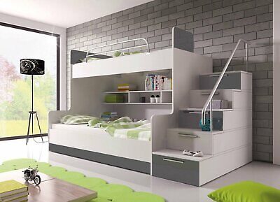 £699 • Buy BRAND NEW Bunk Bed PARADISE 2 Cabin Kids Sleeper 6 Colours Of High Gloss Inserts