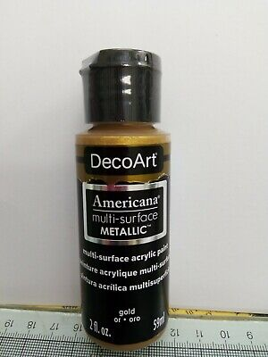 Gold Metallic Multi Surface Americana Acrylic Paint By DecoArt Size 59ml 2fl.oz • 3.99£