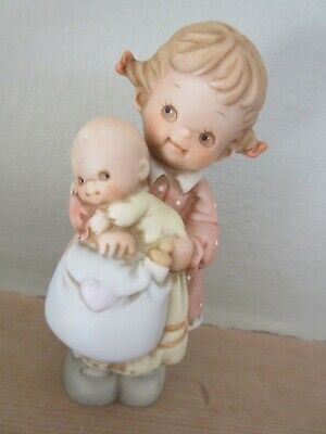 LUCIE ATTWELL ENESCO FIGURE  DATED 1995 Girl Child & Baby Excellent Condition • 14.99£