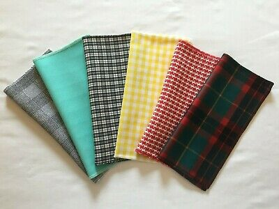 CHECK CHECKED PLAID – Top Pocket Square Hanky Handkerchief – Mods - Made In UK • 2.80£