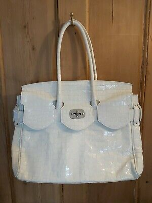 £100 • Buy Vintage Unused Looks Brand New Russell&Bromley Bag Cream/White Patent Leather