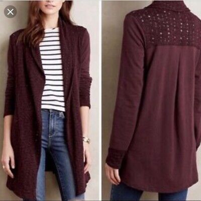 $ CDN57.60 • Buy Anthropologie Saturday Sunday Athens Open Cardigan Womens Large Sweater