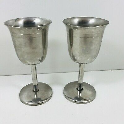 Pair Of Stainless Steel Drinking Goblets Wine  • 6.50£