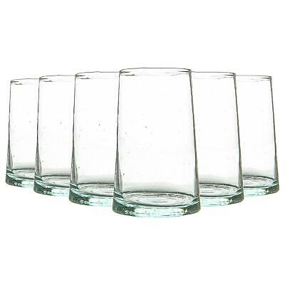 £15.49 • Buy 6 Piece Merzouga Recycled Highball Glasses Set Drinking Glass 320ml Clear