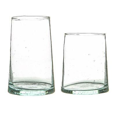 £23.99 • Buy 12 Piece Merzouga Recycled Highball And Tumbler Glasses Set Drinking Glass Clear