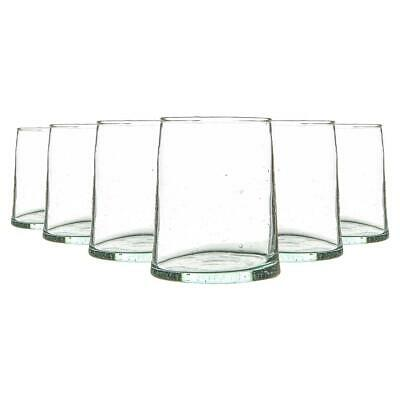 £13.99 • Buy 6 Piece Merzouga Recycled Tumbler Glasses Set Drinking Glass 260ml Clear