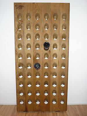 ORIGINAL Champagne Riddling Rack With Branding + Handmade Staining:  Colorless  • 162£