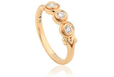 £1200 • Buy NEW Clogau Yellow & Rose Gold 1854 18ct Tree Of Life Trilogy Diamond Ring SIZE P