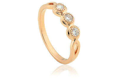 £800 • Buy NEW Clogau 18ct Yellow & Rose Gold 1854 Tree Of Life Trilogy Diamond Ring SIZE O