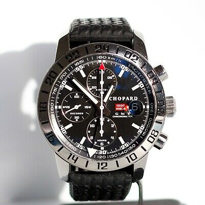 Gents Chopard Mille Miglia GMT Chronograph Steel Black Dial Automatic Box & Warr • 3,275£
