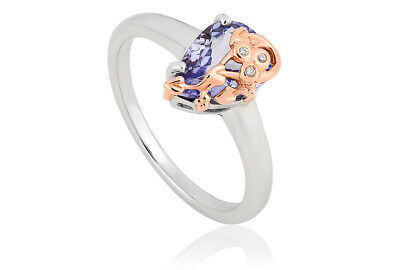 £600 • Buy NEW Clogau 18ct White & Rose Gold Tree Of Life Tanzanite Ring £400 Off! Size O