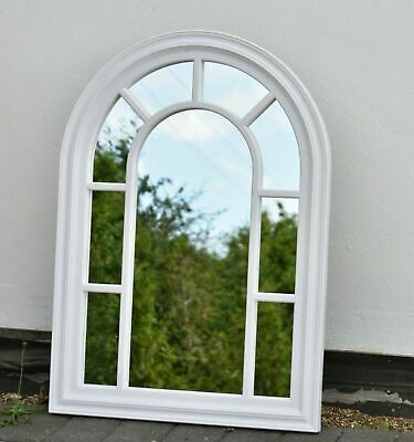 £34.99 • Buy 70x50cm Vintage Shabby Chic Window Style Arched Mirror Frame Wall Hanging