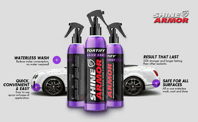 $29.99 • Buy Best Quick Ceramic Coating Car Wax Polish Spray Fortify And Waterless Car Wash