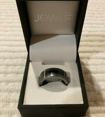 $27 • Buy Men's Wedding/Promise Ring, Tungsten Ring With Ceramic Inlay, Engraved