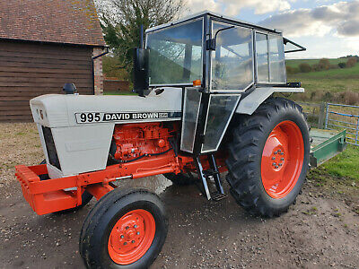 David Brown 995 Tractor + Major Topper Both Very Good Working Order • 6,500£