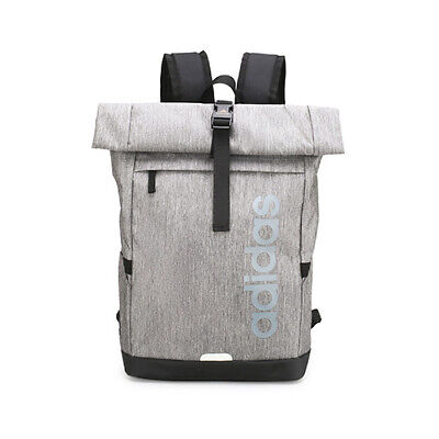 AU49.95 • Buy Adidas Originals Roll Top Canvas Backpack Gym Bag - Grey