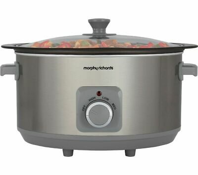 £32.99 • Buy MORPHY RICHARDS Sear & Stew 461014 Slow Cooker Stainless Steel - Currys