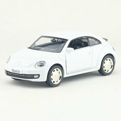 1:36 VW Beetle 2012 Model Car Diecast Toy Vehicle Pull Back White Kids Gift • 13.34£
