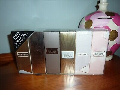 Next 6 X 10ml Eau De Parfum Gold Sparkle White Amber Cashmere Just Pink Sealed  • 24.99£