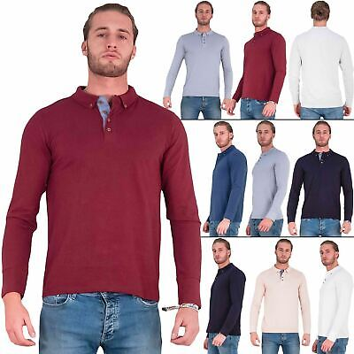 Brave Soul Lincoln T Shirt Mens Polo Long Sleeve Cotton Pique Casual Top • 9.99£