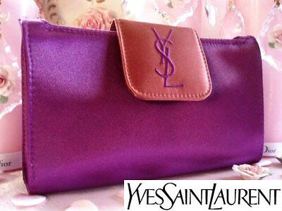 100% AUTHENTIC Ltd Edition YSL COUTURE Purple&Bronze Clutch Evening BAG&MIRROR • 99£