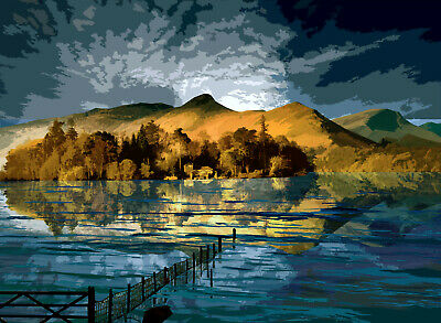 Derwent Water Lake District Limited Edition Art Print By Sarah Jane Holt • 15£