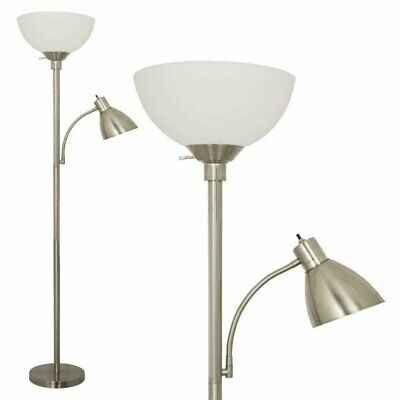 Stella Floor Lamp By Light Accents With Side Reading Light Model 6185-72 • 47£